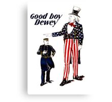 Good Boy Dewey -- Uncle Sam Canvas Print