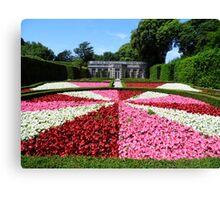 Mount Edgcumbe Flower Display Formal Gardens  - French Garden Canvas Print