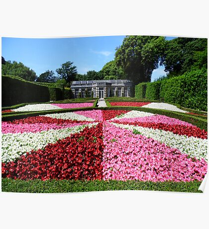 Mount Edgcumbe Flower Display Formal Gardens  - French Garden Poster