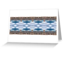 Stormy straight mirrored X16 Greeting Card