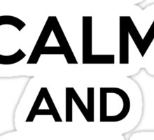Keep Calm and Golf On Sticker
