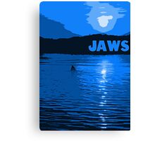 Jaws Poster - Blue Variant Canvas Print