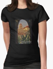 'Palermo' Vintage Travel Poster (Reproduction) Womens Fitted T-Shirt