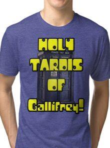Holy TARDIS of Gallifrey Tri-blend T-Shirt