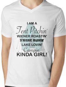 I AM A TENT PITCHIN' CAMPIN' KINDA GIRL Mens V-Neck T-Shirt