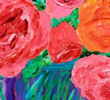 Bouquet of English Roses in Mason Jar Painting Sticker
