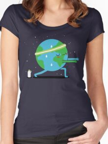 Global Warming Up Women's Fitted Scoop T-Shirt