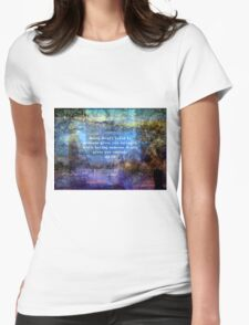 Inspirational Lao Tzu spiritual Courage quote Womens Fitted T-Shirt