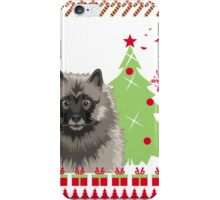 Keeshound Ugly Christmas Sweater iPhone Case/Skin