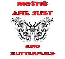 Emo Butterflies  Photographic Print