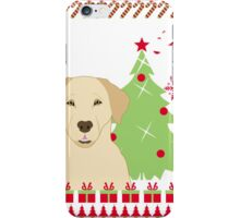 Labador Ugly Christmas Sweater iPhone Case/Skin