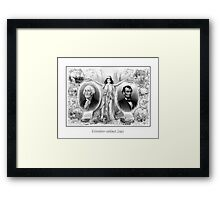 Presidents Washington and Lincoln Framed Print