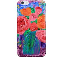 Bouquet of English Roses in Mason Jar Painting iPhone Case/Skin
