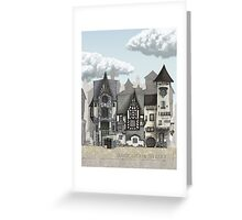 Back Stair Street Greeting Card