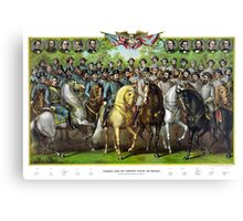 Prominent Union and Confederate Generals and Statesman Canvas Print