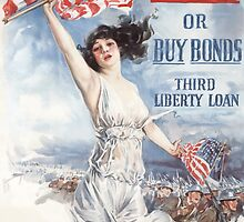 Fight or Buy Bonds -- WWI by warishellstore