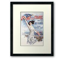 Fight or Buy Bonds -- WWI Framed Print