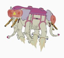 Ancient Psychic Tandem War Elephant by lumb