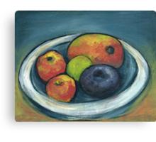 Mango Peach & Plum Canvas Print