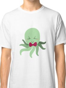 Bowtie Green Octopus Classic T-Shirt