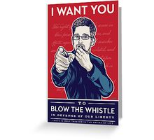 Edward Snowden I Want You Greeting Card