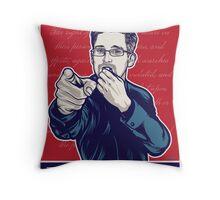 Edward Snowden I Want You Throw Pillow