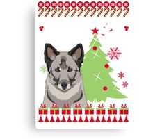 Norwegian Ugly Christmas Sweater Canvas Print