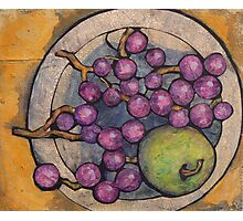 Apple with Grapes Photographic Print