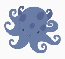 Purple Blue Octopus Kids Tee