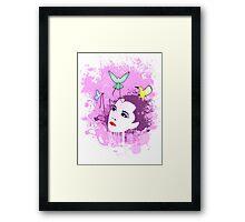 Geisha and Birds Framed Print