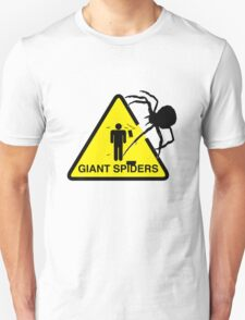 Warning: Giant Spiders T-Shirt