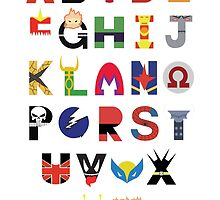 Super Hero Alphabet by Audrey Metcalf