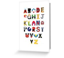 Super Hero Alphabet Greeting Card