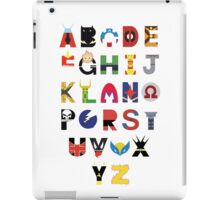 Super Hero Alphabet iPad Case/Skin