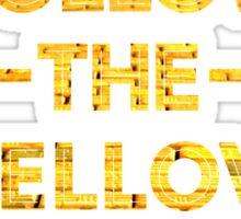 Follow The Yellow Brick Road Sticker