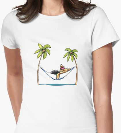 Yorkie Island Princess Womens Fitted T-Shirt