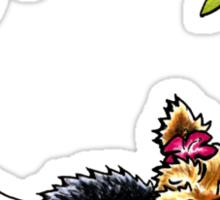 Yorkie Island Princess Sticker