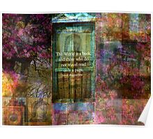 Saint Augustine BOOK Travel Quote Poster