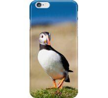 Puffin Standing on One Leg - Scotland Birds in Treshnish Isles Vertical Print iPhone Case/Skin