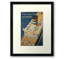 Vintage poster - Cruise ship Framed Print