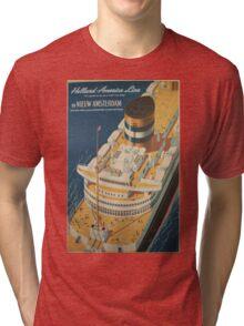 Vintage poster - Cruise ship Tri-blend T-Shirt