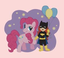 Batgirl and Pinkie Pie by beckadoodles