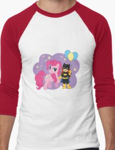 Batgirl and Pinkie Pie Men's Baseball ¾ T-Shirt