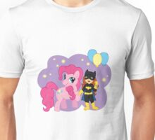 Batgirl and Pinkie Pie Unisex T-Shirt