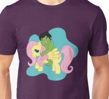 Hulk and Fluttershy Unisex T-Shirt