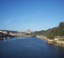 View of Nuremberg from the Pegnitz River by CadburyKeepsake