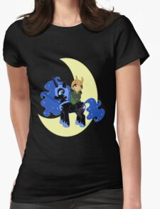 Loki and Nightmare Moon Womens Fitted T-Shirt