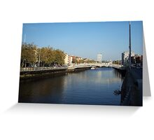 View from Half-Penny Bridge in Dublin Greeting Card