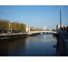 View from Half-Penny Bridge in Dublin Photographic Print
