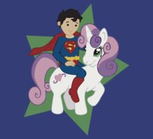 Superman and Sweetie Belle by beckadoodles